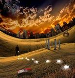 тропка освещенная шариками Стоковое Изображение