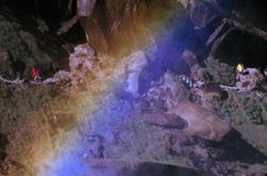 тропка радуги hikers Стоковые Изображения RF
