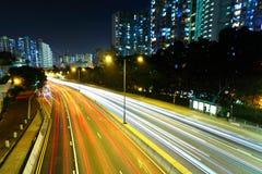 тропка света города Стоковое Изображение RF