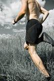 тропка хода человека страны перекрестная Стоковая Фотография RF