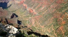 тропка яркого каньона ангела грандиозная Стоковая Фотография RF