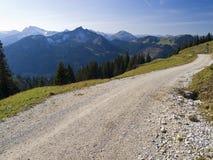 тропка alps germal hiking Стоковое Изображение RF