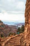 Тропка Kaibab гранд-каньона Стоковые Фото
