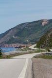 тропка scotia парка Новы breton гористых местностей плащи-накидк Канады cabot национальная Стоковое Изображение