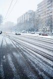 Тропки автомобиля на дороге Стоковые Фото