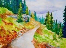 тропки горы Стоковая Фотография RF