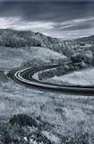 тропки дороги света страны автомобиля Стоковое Изображение