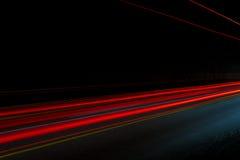Тропки света автомобиля Стоковое Изображение RF