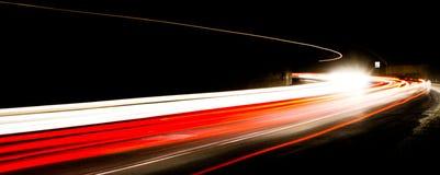 Тропки света в тоннеле Стоковое фото RF