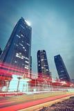 тропки света здания предпосылки самомоднейшие Стоковое фото RF