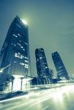 тропки света здания предпосылки самомоднейшие Стоковые Изображения