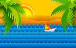 Троповые море и sailfish иллюстрация штока