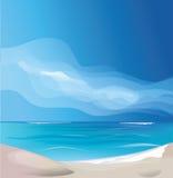 троповый экзотический ландшафт пляжа острова Стоковое Фото