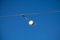 Тросовый ролик подъема лыжи - деталь Стоковые Фото