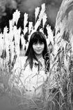 тростники девушки Стоковое Изображение