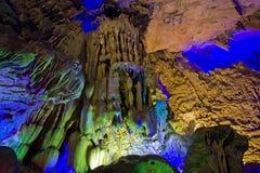 тростник guilin guangxi каннелюры подземелья Стоковая Фотография