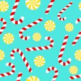 Тросточка и леденцы на палочке конфеты Стоковая Фотография