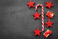 Тросточка и украшения конфеты рождества Стоковое Изображение