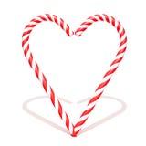 Тросточка конфеты изолированная на белой иллюстрации предпосылки 3d Стоковая Фотография