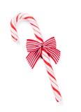 Тросточка конфеты с смычком Стоковое Фото