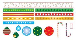 Тросточка конфеты украшений рождества стоковое изображение rf
