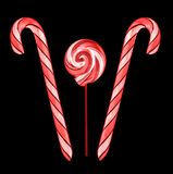 Тросточки леденца на палочке и конфеты Стоковое Изображение RF