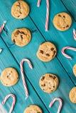Тросточки печений обломока шоколада & конфеты рождества Стоковые Изображения