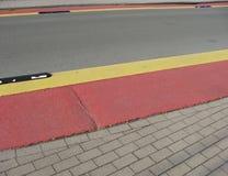 тротуар безопасности дороги путя велосипедиста Стоковое фото RF