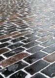 тротуар двора крупного плана церков Стоковые Изображения RF