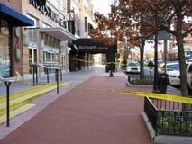 Тротуар закрытый на ресторане ` s Maggiano стоковые изображения rf