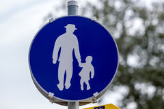 Тротуар знака Стоковая Фотография RF