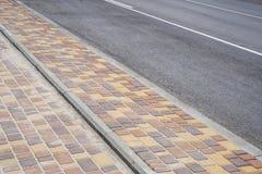 Тротуар и дорога Стоковые Изображения RF