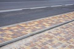 Тротуар и дорога Стоковое Фото