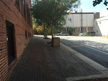 Тротуар кирпича Стоковая Фотография RF