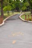 тротуар парка кривого Стоковая Фотография