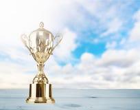 Трофеи на таблице стоковые фотографии rf