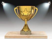Трофей звезды золота на этапе Стоковая Фотография RF