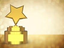 Трофей звезды золота Стоковые Фото