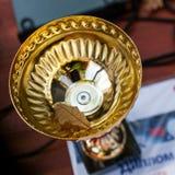 Трофей золота с лист Стоковое Изображение