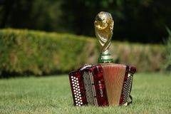 Трофей и Hohner кубка мира bayan Стоковое фото RF