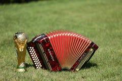 Трофей и Hohner кубка мира bayan Стоковое Изображение