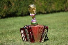 Трофей кубка мира и bayan Стоковое фото RF