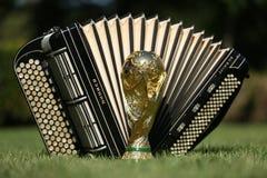 Трофей кубка мира и bayan Стоковые Изображения