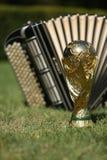 Трофей кубка мира и bayan Стоковое Изображение