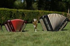Трофей кубка мира и bayan Стоковая Фотография RF