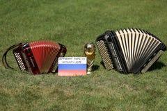 Трофей кубка мира и bayan Стоковое Изображение RF