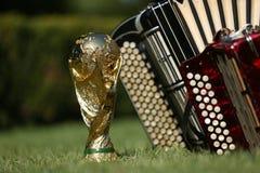 Трофей кубка мира и bayan Стоковые Изображения RF