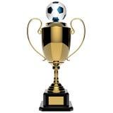 Трофей пожалования футбола золотистый. Стоковые Фотографии RF