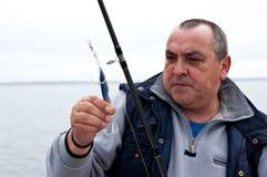 трофей старшия рыболова стоковые фото