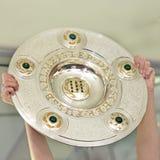 трофей футбола чашки чемпионата немецкий Стоковое фото RF